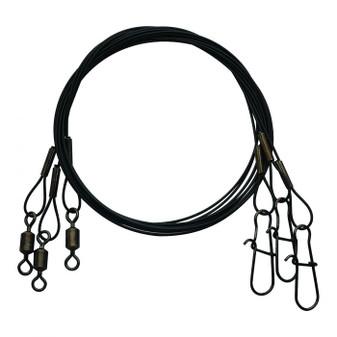 "Steel Leader Wire 9""/30lb Test - Black"