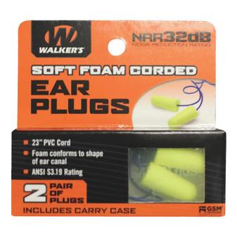 Neon Yellow Foam Ear Plugs - 2 Pair