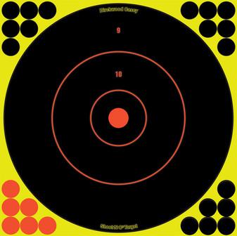 """Shoot-N-C 12"""" Bull's-Eye, 5 Pack - 120 Pasters"""
