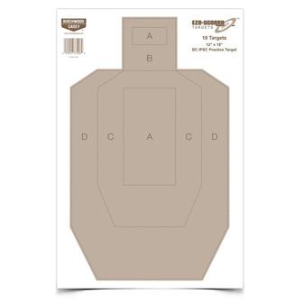 Eze-Scorer BC IPSC Practice Target - 10 Pack