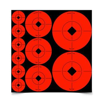 Assorted Size Spot Targets - Orange