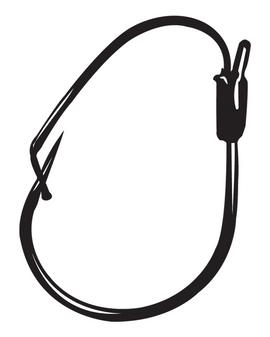 1/0 Finesse Wide gap, Weedless Hook - Black