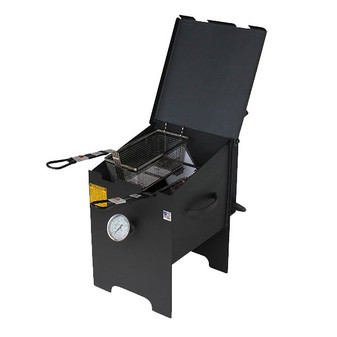 4 Gallon 2 Basket Fryer - No Stand - Left View