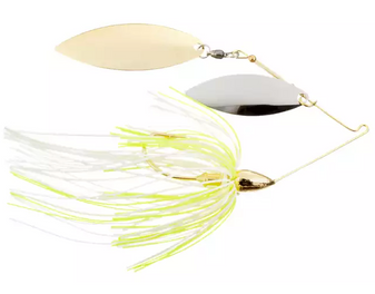 3/8oz Gold Spinnerbait Double Willow