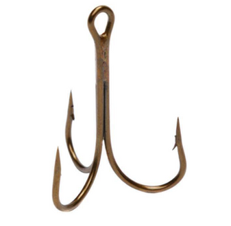 10/0 Bronze Treble Hook