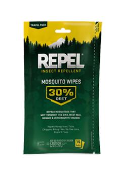 Mosquito Wipes 30% DEET 15ct
