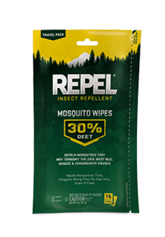 Mosquito Wipes 30% DEET 15ct