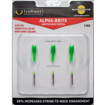 Alpha-Brite Universal Green Lighted Nock System - 3 Pack