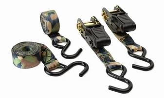Camo Ratchet Tie Down - 2 Pack