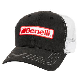 Benelli Logo Patch Mesh Hat - Black