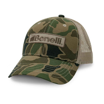 Benelli Logo Mesh Hat - Vintage Camo