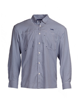 Intracoastal L/S Fishing Shirt - Navy Check
