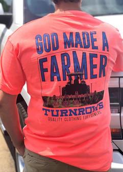 God Made A Farmer Orange S/S