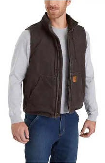 Sherpa-Lined Mock Neck Vest