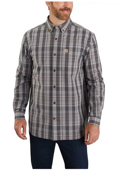 Relaxed Fit L/S Plaid Shirt