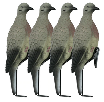 4 Clip On Doves w/Stake
