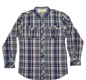 Poplin Reedbrake Plaid L/S Shirt