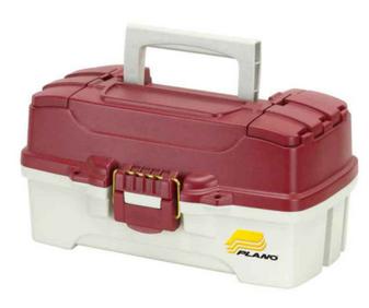 One Tray Tackle Box Maroon Top