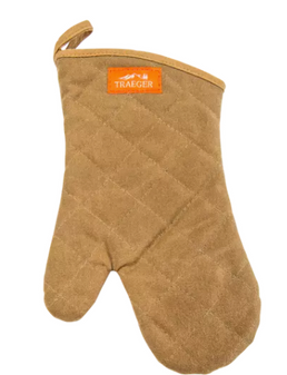 BBQ Mitt Brown Canvas/Leather