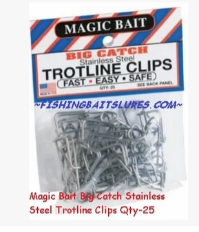 Big Catch Trotline Clips 25pk