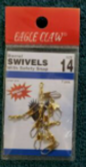 Size 14 Brass Barrel Swivel (EC 01041-014)
