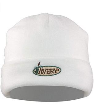 Avery Fleece Skull Cap - White