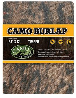 "Camo Unlimited Timber Burlap 54""x12'"