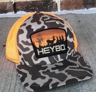 Heybo Old School Camo Mesh Back Hat