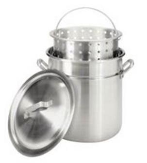 Barbour International 42qt Aluminum Stockpot With Basket