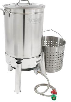 Barbour International 44qt Stainless Boil/Steamer Kit