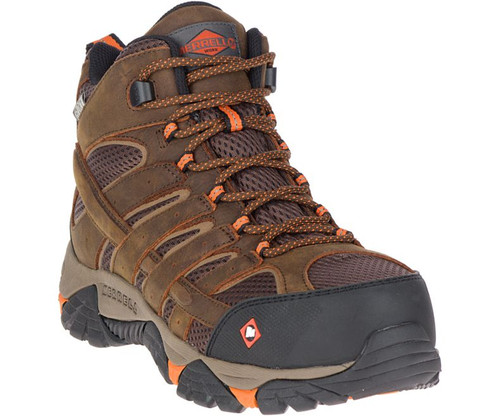 6d29ffb9fd Men's Moab Vertex Vent Comp Toe Work Shoe Wide Width by Merrell