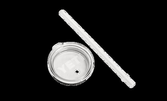 Yeti Rambler Tumbler Straw & Lid 20 oz  laying flat
