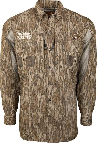 Vestless Mesh Back Shirt with Spine Pad