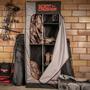 Scent Crusher Locker Lite open in garage