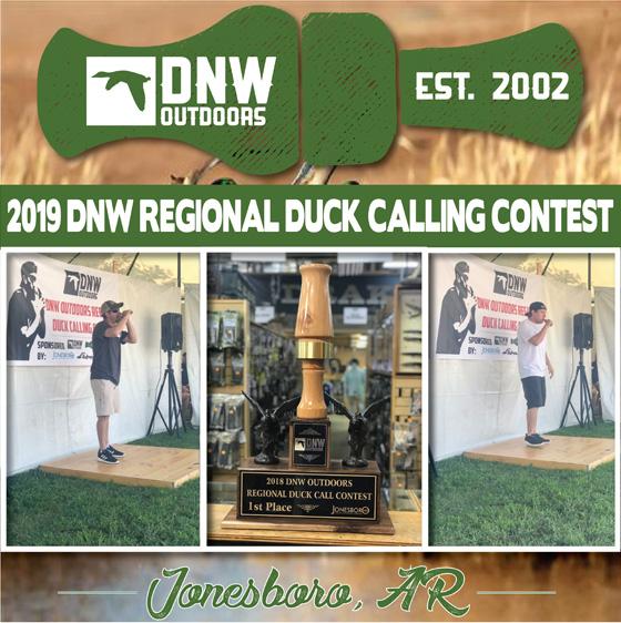 dnw outdoors regional duck calling contest flyer
