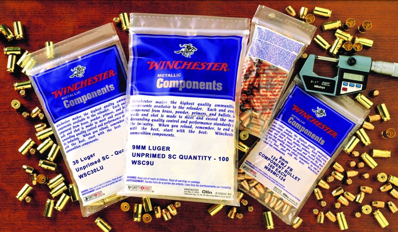 Winchester WSC38SU 38 Special Brass 100Bg Unprimed