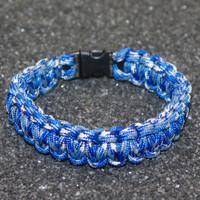 Paracord Bracelet - Bucky Blue Camo