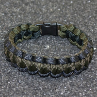 Paracord Bracelet - Black and Olive Drab