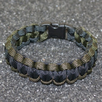 Paracord Bracelet - Olive Drab and Black