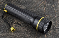 """Black Flashlight uses Two """"D"""" Cell Batteries"""