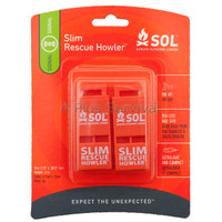 2 Pack Slim Rescue Howler Whistle