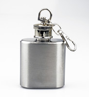 1 Oz Stainless Steel Key Chain Flask