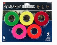 5 Pack High Visibility Hunting Marking Ribbon Rolls