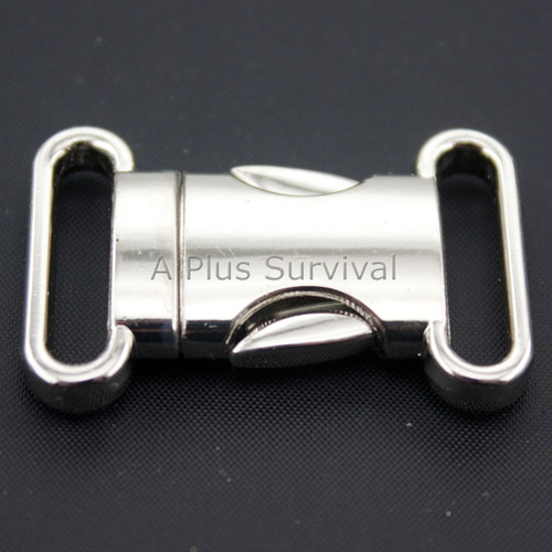Metal Side Release Buckle with Oval Ends