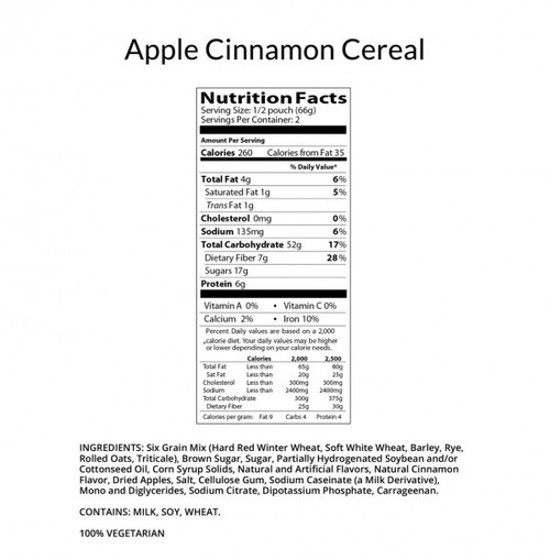 Apple and Cinnamon Cereal