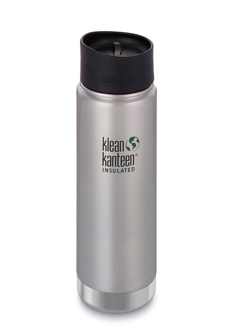20oz Klean Kanteen Insulated Brushed Steel Wide Mouth Loop Cap
