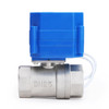 """Motorized Ball Valve- 1"""" Stainless Steel Ball Valve with Standard Port, 9-24V AC/DC and 2 Wire Auto Return Setup"""
