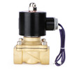 """3/4"""" Brass Electric Solenoid Valve 12V DC N.C. Air Water Fuel VITON"""
