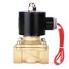 "3/4"" Brass Electric Solenoid Valve 220V AC G Thread N.C. Air Water Fuel VITON"