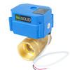 "U.S. Solid 1 1/4"" Brass Motorized Ball Valve 9-24V DC DN32 Electrical Ball Valve, 2 Wire Auto Return Setup"